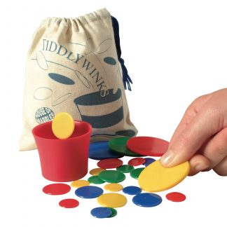 Tiddlywinks game with handy storage bag