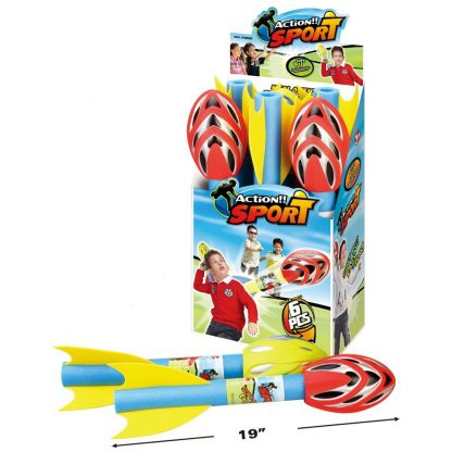 Large Foam Throwing Missiles in Red and Yellow